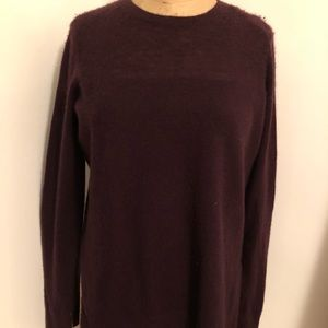 Vince Burgundy crew neck cashmere sweater xs
